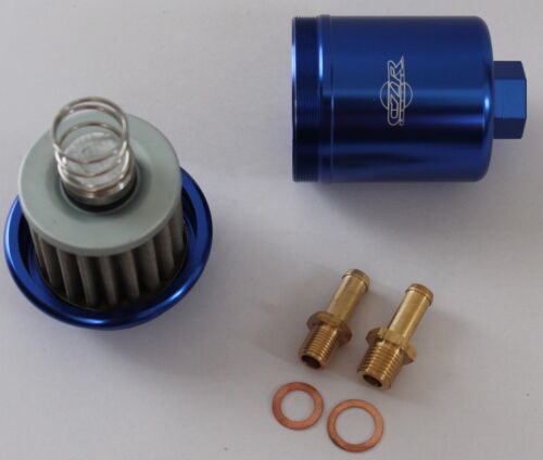 CZR RACING HIGH FLOW FUEL FILTER WASHABLE HONDA 96-00 CIVIC BLUE