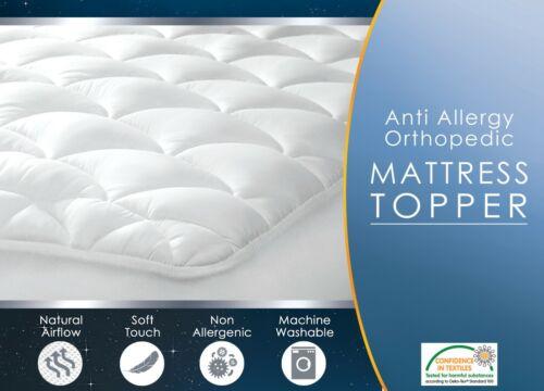 Triple Fill Orthopaedic Pocket Stitch Anti Allergy Mattress Topper Pad Protector