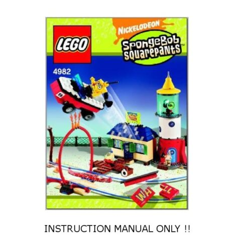 Spongebob LEGO 4982 Puff/'s Boating School Mrs INSTRUCTION MANUAL ONLY