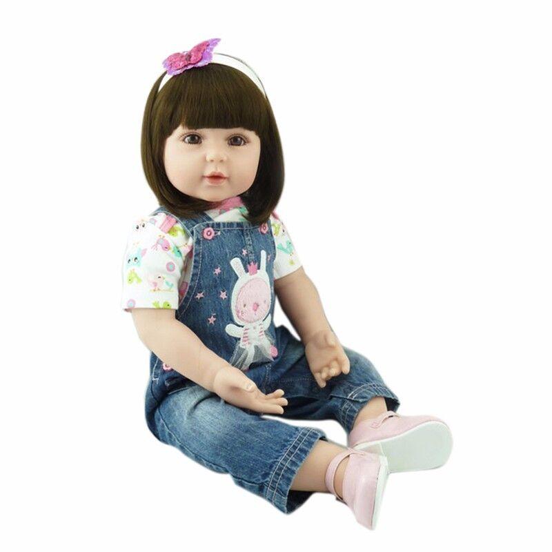 22  muñecos realistas niña bebé hecha a mano de silicona muñecas juguete del niño bebé reborn
