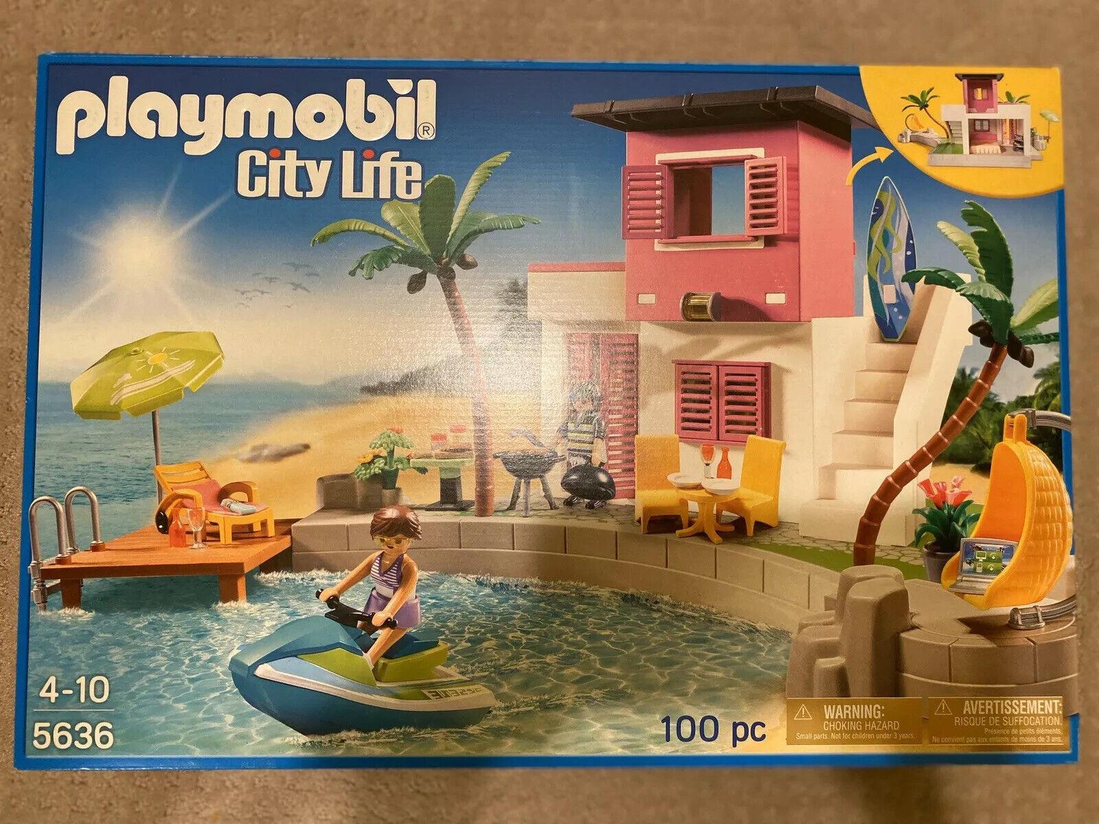 Playmobil City Life 5636 Luxury Beach House Playset New