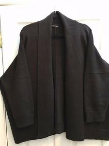 Brn Merino Sweater s Ull Eskandar Shawl Cardigan O Collar Heavyweight 2x 1x qP5xwyXxYv