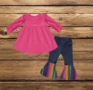 Nwot Baby Girls Serape/colorful/rainbow Outfit 6/12 100% Guarantee Girls' Clothing (newborn-5t)