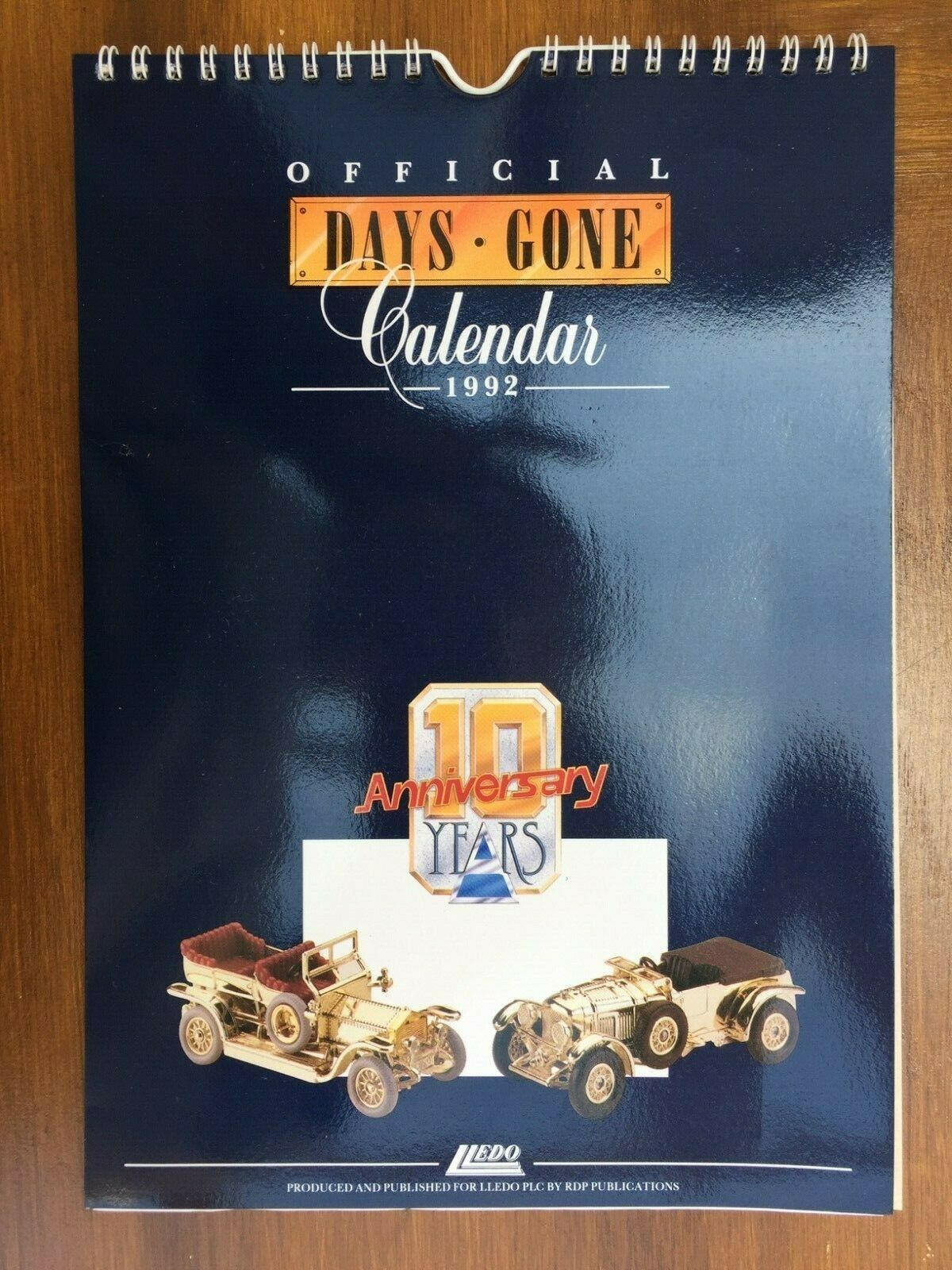 LLEDO 1992 OFFICIAL DAYS GONE Colour Calendar 10 Anniversary Years Edition