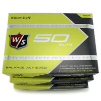 Wilson Staff Fifty Elite Yellow Golf Balls Soft Feel Greenside Spin 3 Dozen on sale