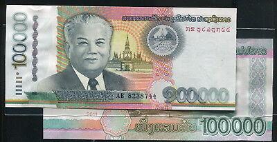 Laos 100000 100,000 Kip UNC P-42 2011