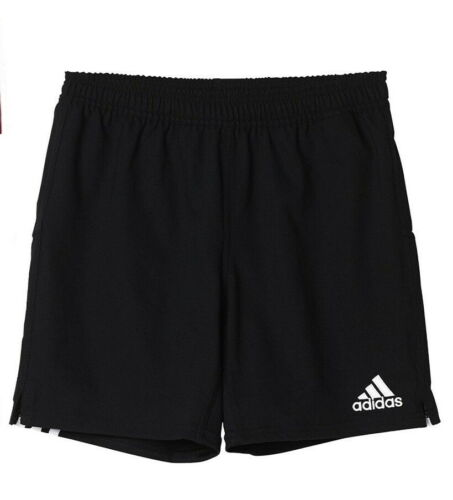 adidas 3 Stripe Kids Rugby Shorts Boys Youths Junior Sports Football Shorts