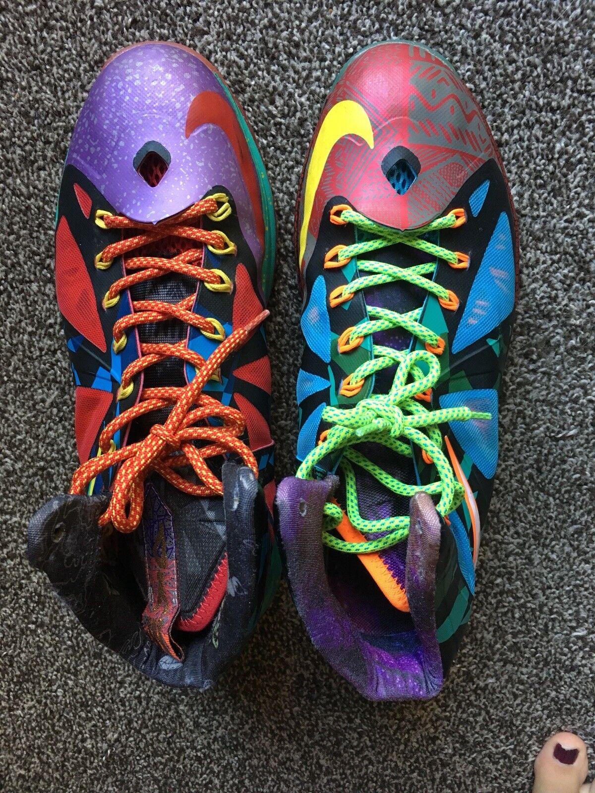 Lebron 10 'What The' Color Men's Size 10 Shoes Multi Color The' Mismatched bd4073