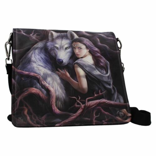 Nemesis Now Embossed Shoulder Bags Anne Stokes Lisa Parker Wolves and  Cat  desi