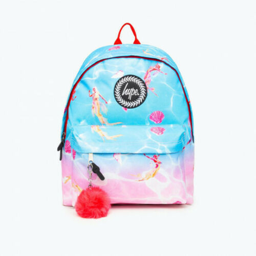 Pink Hype Mermaid Backpack Blue