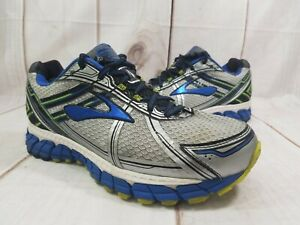 Brooks-Adrenaline-GTS-15-Gray-Blue-Athletic-Training-Running-Shoes-Men-039-s-8-4E
