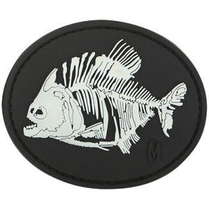Maxpedition-Piranha-Bones-3D-Rubber-Moraal-Patch-Badge-Oplicht-In-Het-Don