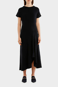 NEW-Cedric-Charlier-Cap-Sleeve-Dress-Black