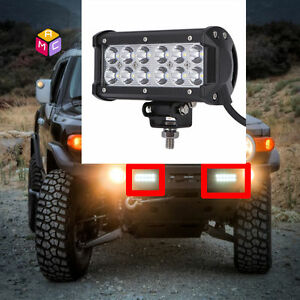 2x6'' LED Light Bar Side X Side Yamaha Rhino Viking VI Grizzly SXS Sand Quad ATV