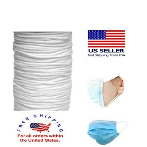 50 100 Yards 3mm Super Soft Elastic Band Face Mask Cord Rope Ear