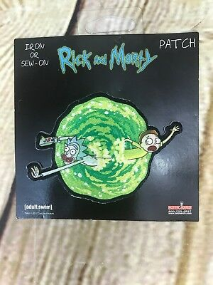 Rick And Morty Portal Patch ADULT SWIM Cartoon Network Embroidered Iron OR Sew