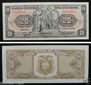 Ecuador Paper Money 10 Sucres 1988 UNC