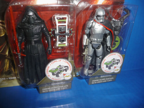 "NUOVO Jungle STAR Wars kylo REN /& CAPITAN Phasma 3.75/"" Figure la forza si sveglia"