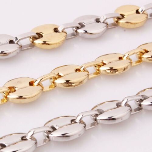Charming Stainless Steel Mutil-Color Coffee Beans Link Chain Men Women Necklaces