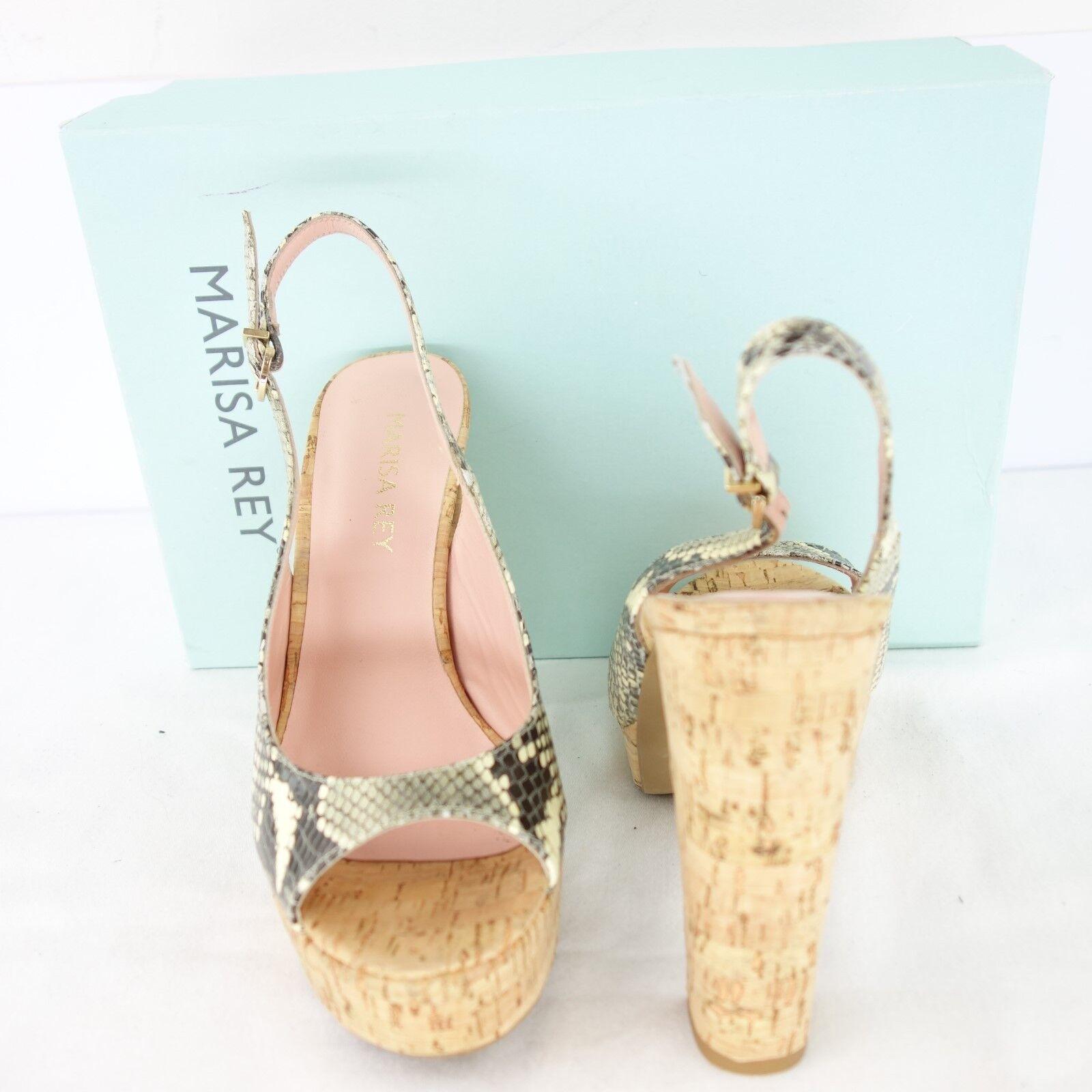 Marisa Rey Rey Rey Women Plateau High-Heeled Sandals Pumps Sz. 40 41 Leather 45e9d8