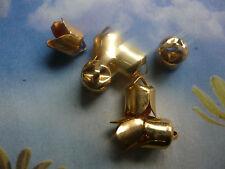 PERLENKAPPEN ENDKAPPEN kompakt vergoldet – 6 x 7,5 mm (12)