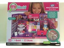NIB MIWORLD MI WORLD SKECHERS SHOE STORE PLAY SET 55 PIECE BUILD MINI MALL NEW!