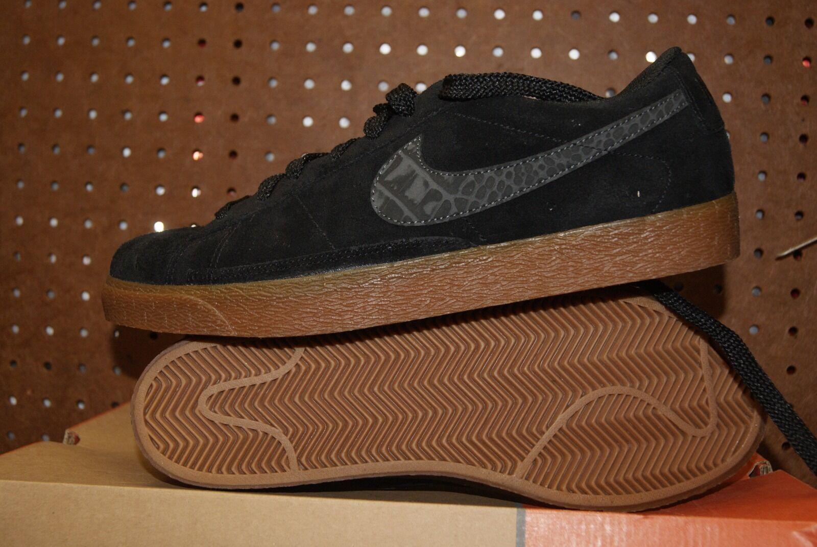 Uomo Nike Nero Blazer Low Scarpe da Ginnastica Shoes Nero Nike Gum Sz 11.5 929932