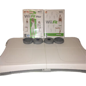 Nintendo Wii Fit & Plus Games and Balance Board Tested Working Exercise Workout
