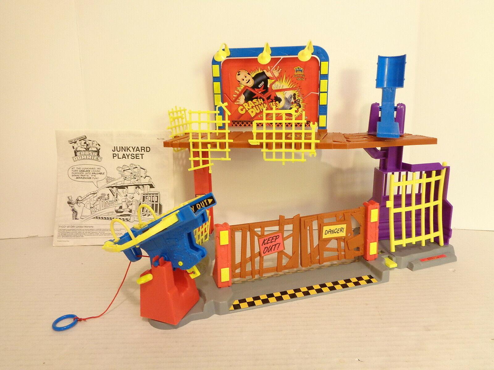 1993 Tyco Unglaubliche Crash Dummies Schrottplatz Wirkungfigur Spielset Komplett