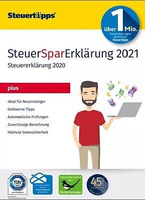 SteuerSparErklärung PLUS 2021 für Steuerjahr 2020 PC ...