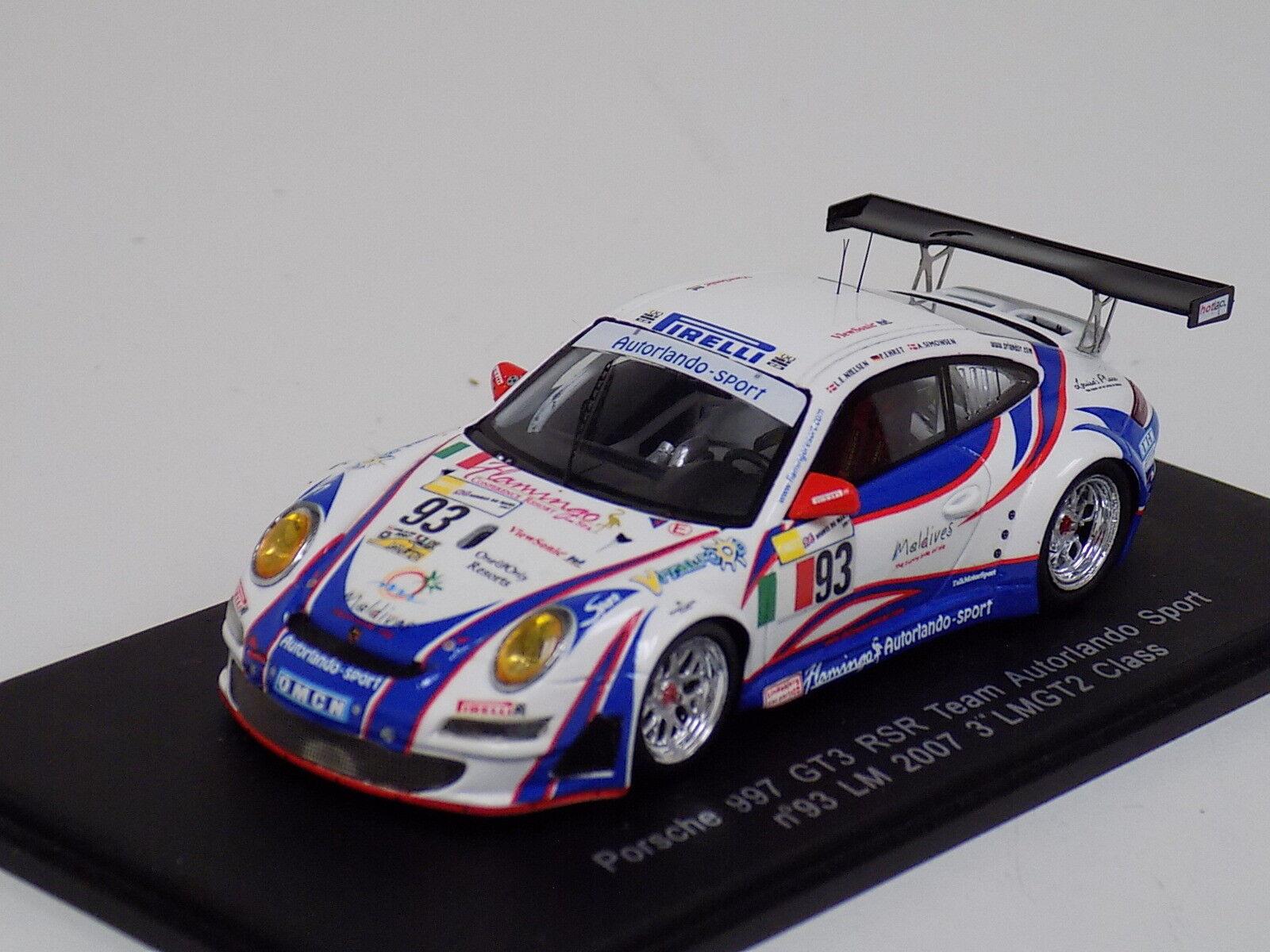 1 43 Spark Porsche 911  997  GT3 RSR coche horas de LeMans S1905