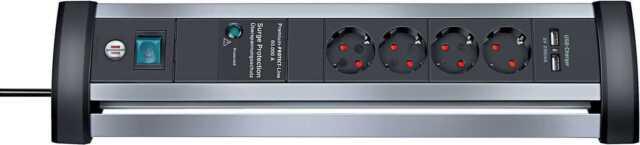 60.000A Überspannungsschutz-Steckdosenleiste mit USB Brennenstuhl 1395000514