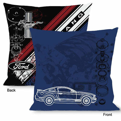 Original Ford Mustang Pony Tri Bar Logo Pillow Kissen Dekokissen Sofakissen USA