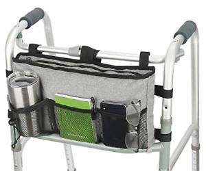 Walker Bag Hand Free Storage Bag Walker Attachment Handicap Basket Pouch New