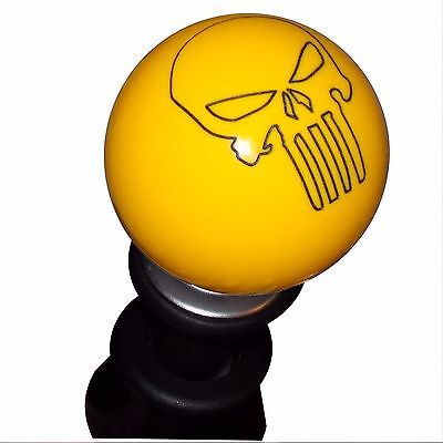 White Punisher Skull shift knob fits GT86 FT86 BRZ FR-S lockout shifter