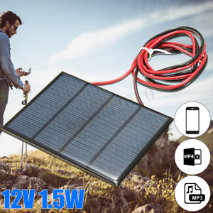 1-5W-12V-DIY-Solar-Panel-Small-Cell-Battery-Module-Epoxy-Charger-Welding-Wire
