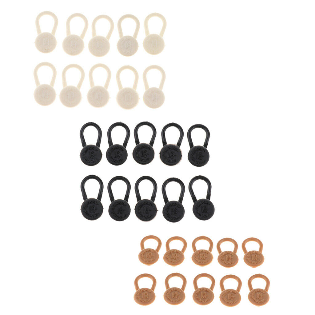 10 Pieces Button Extenders for Dress Shirt, Pants, Jeans, Jackets, Sleeves -