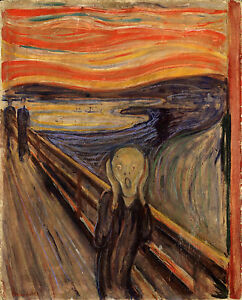 The-Scream-by-Edvard-Munch-Expressionism-Painting-Real-Canvas-Art-Print