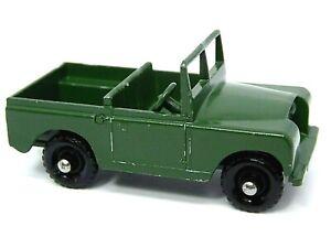 Matchbox-Lesney-No-12b-Land-Rover-Serie-II-sin-error-de-fabrica-adorno-de-plata