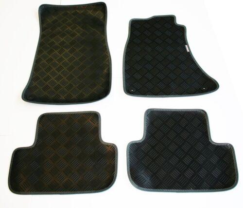 Richbrook 3mm Black Car Mats Audi A4 // A4 Avant 07-now Grey Leather Trim