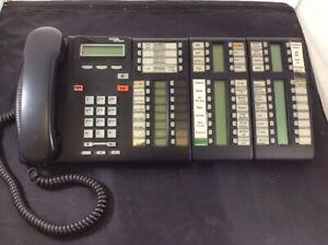 Nortel-Norstar-BCM-Charcoal-LCD-Display-Receptionist-Phone-2x-T24-KIM-T7316E