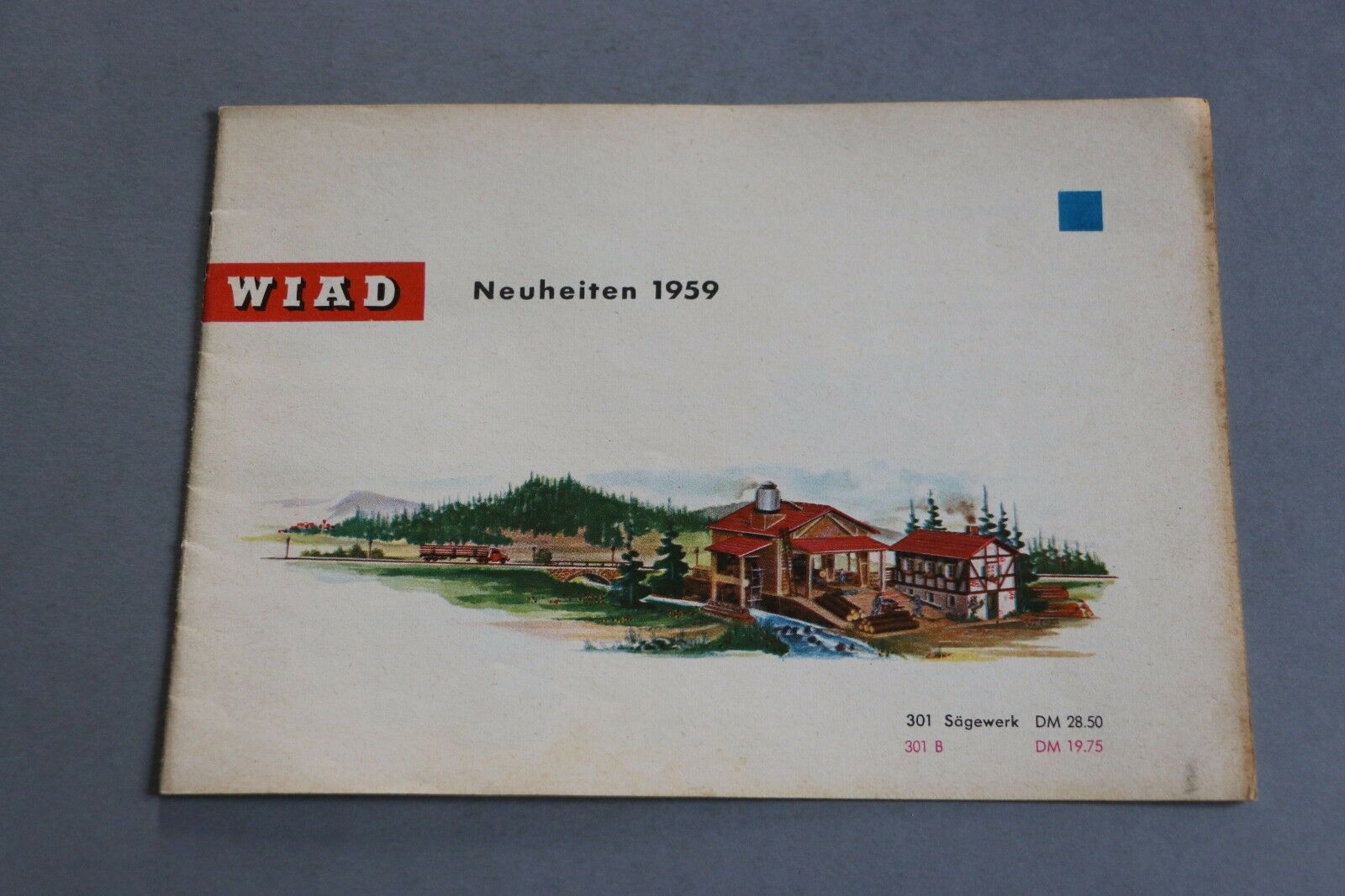 X479 WIAD Train Catalogue maquette 1959 12 pages 21x14,7 cm Deutch Katalog