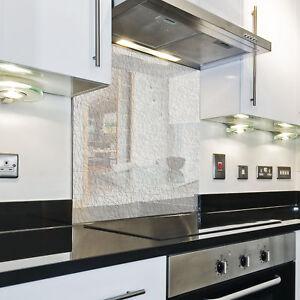 Details zu KÜCHENRÜCKWAND Spritzschutz Küche Gehärtetes Glas hintergrund  Muster Weiß