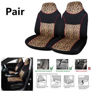 Car SUV Front Seat Cover Elastic Simple Black PU Imitated Leather Foam Padding