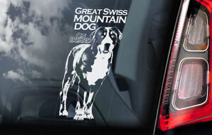 Great-Svizzero-Mountain-Cane-a-Bordo-Auto-Finestrino-Adesivo-Sennenhund