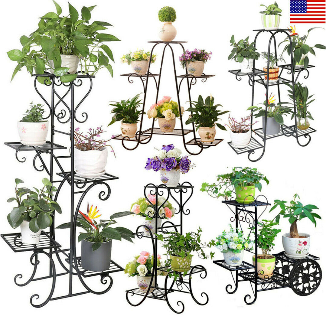 Plant Stands For Multiple Plants Indoor Wood 3 Tier Outdoor Shelves Patio Porch For Sale Online Ebay