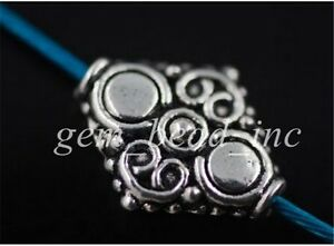 20Pcs-Tibetan-Silver-Crafts-Findings-Spacer-Charm-Alloy-Jewelery-Beads-15mm