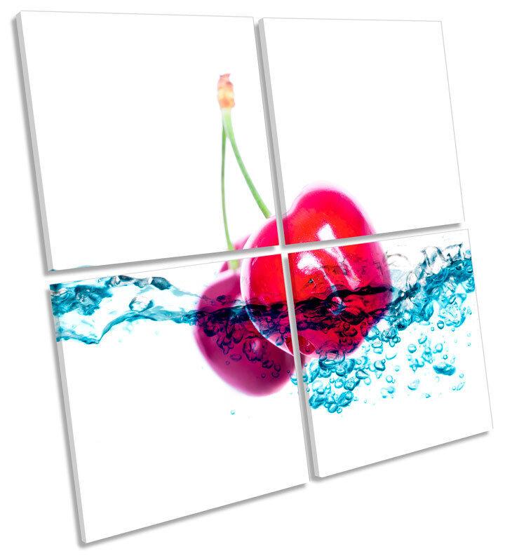 Cherry agua agua agua Splash Cocina Lona Pa rojo  Arte Cuadrado de impresión de múltiples 96df79