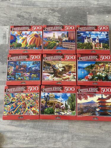Lot of 2-500 Piece Puzzlebug Artbox Jigsaw Puzzles