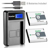 Kastar Battery And Lcd Slim Usb Charger For Sony Np-bk1 Type K Cybershot Bloggie